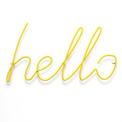 Hello Coat Rack | Yellow