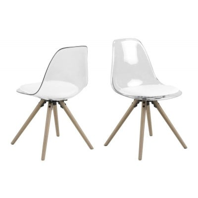 Set of 2 Chairs Leon | White