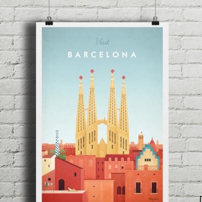 Reiseplakat | Barcelona