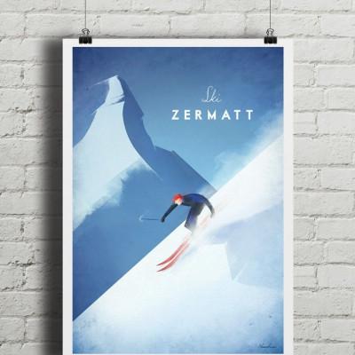 Travel Poster | Ski Zermatt