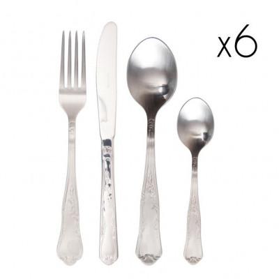 Retro' Cutlery Steel Matt | Set of 24