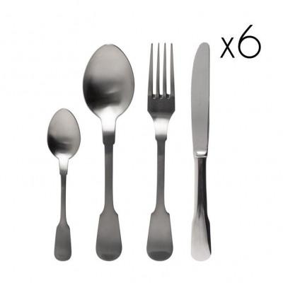 Classic Cutlery Stainless Steel Matt | Set of 24