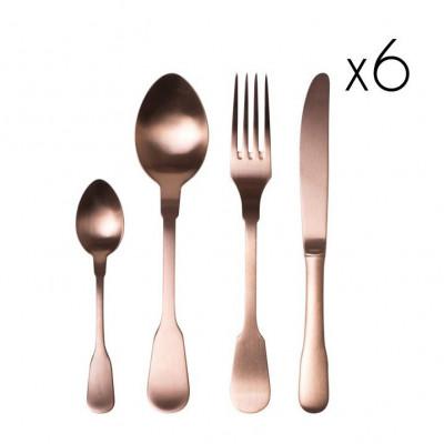 Classic Cutlery Copper Matt | Set of 24