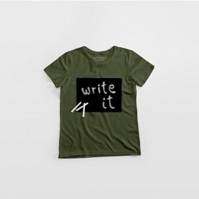 """Cotton Twitter"" Writable T-shirt Women   Khaki"