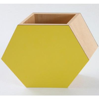 Shadow Hexagonal Vase Yellow