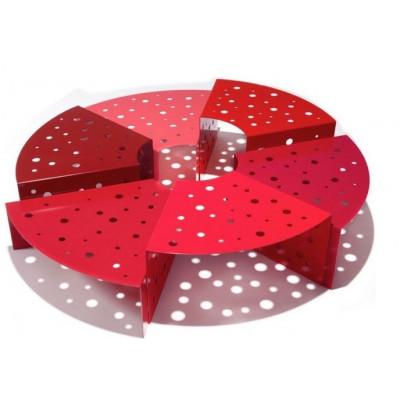 Couchtisch Hexalto | Rot