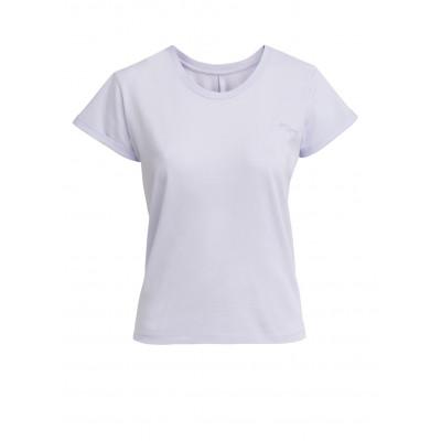 T-Shirt mit Knoten | Lila