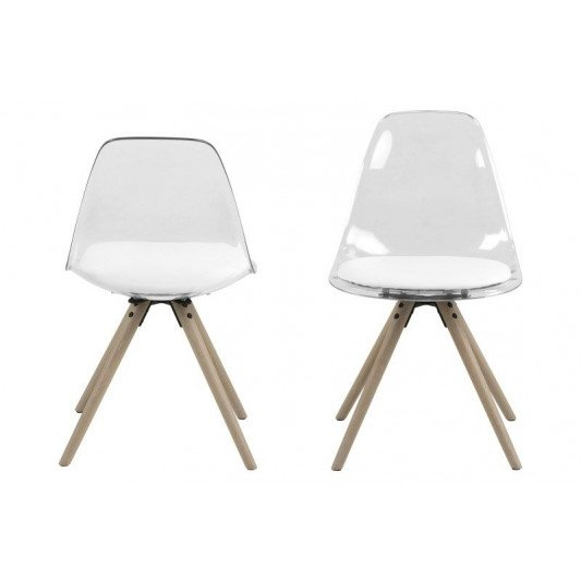 Chaise Leon Set de 2 | Blanc