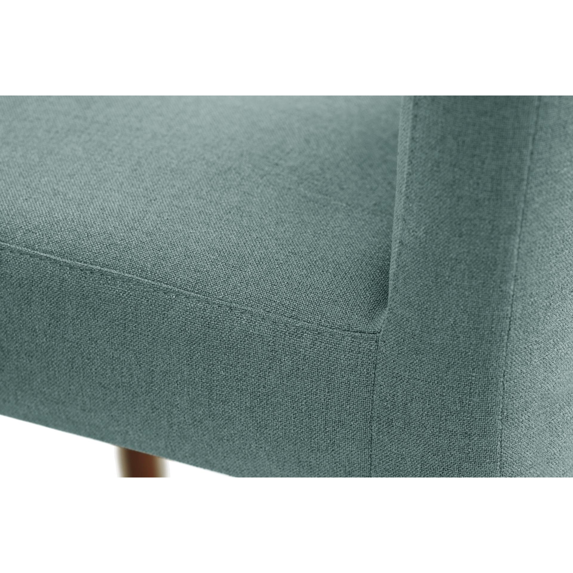 Parfum de fauteuil   Jambes marron   Dossier gris vert   Lot de 2