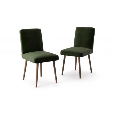 2-er Set Esszimmerstühle Fragrance | Dunkelgrün