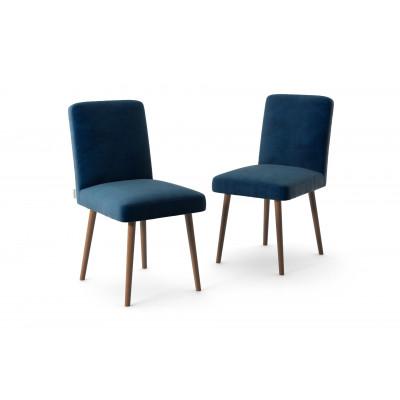 2-er Set Esszimmerstühle Fragrance | Marineblau