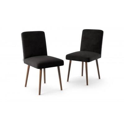 2-er Set Esszimmerstühle Fragrance | Schwarz