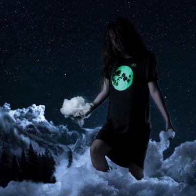 Dress With Phosphoric Decoration | Moon