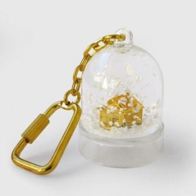 Mini-Schneekugel-Schlüsselanhänger   Sweet Home
