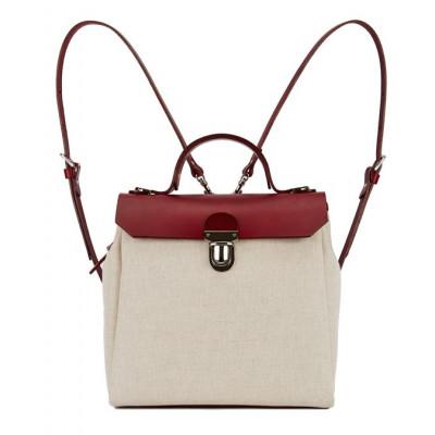 HILLSIDE Urban Backpack   Snowwhite Burgundy