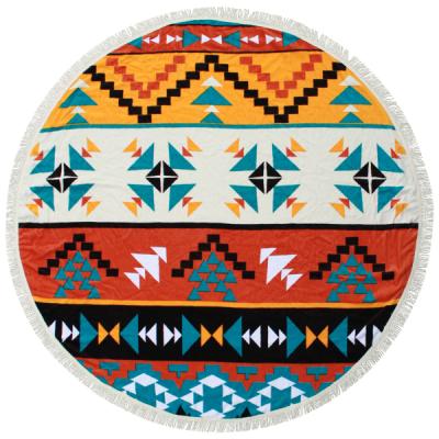 Round Beach Towel | Hippie