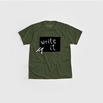 """""""Cotton Twitter"""" Writable T-shirt Men   Khaki"""