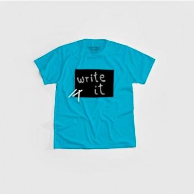 """Cotton Twitter"" Writable T-shirt Men   Turquoise"
