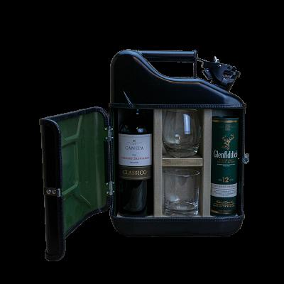 Geschenkpaket Jerrycan Bar His & Her mini 10 L | Schwarz