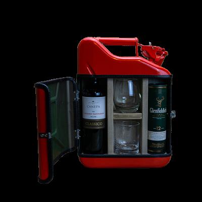 Geschenkpaket Jerrycan Bar His & Her mini 10 L | Rot
