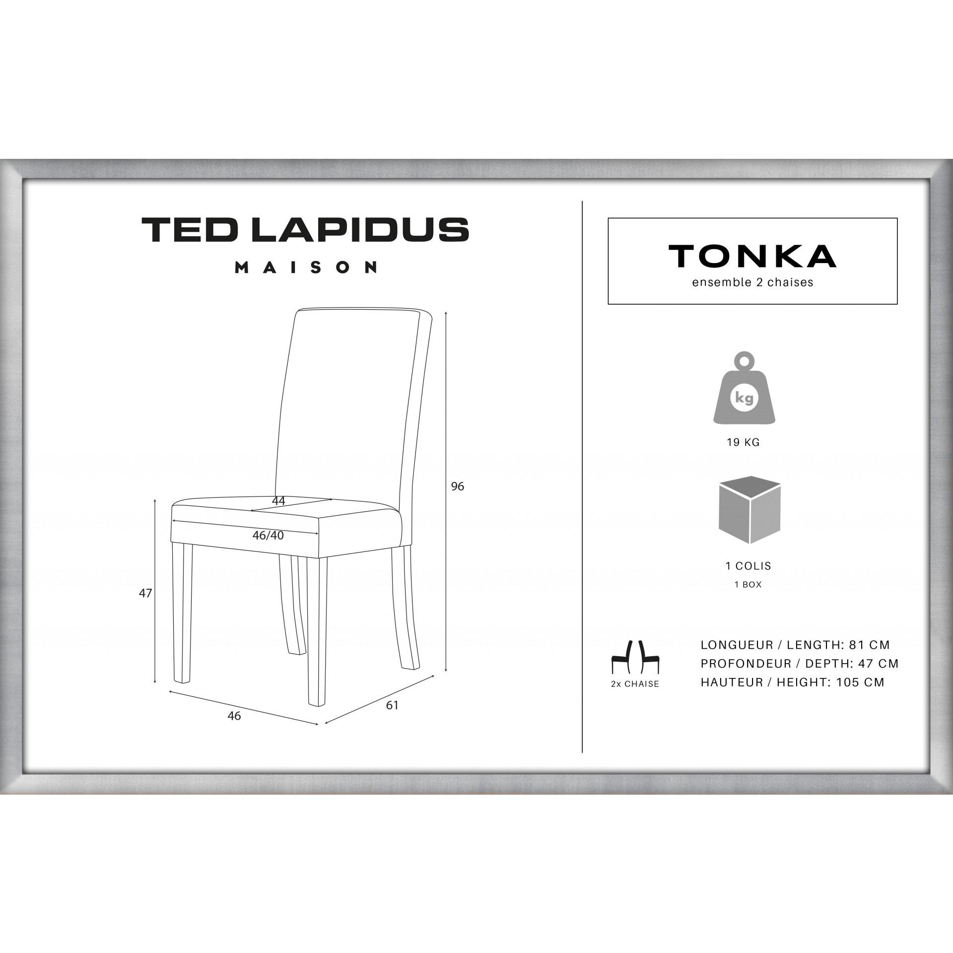 Stuhl Tonka 2er-Set | Braun & Schwarz
