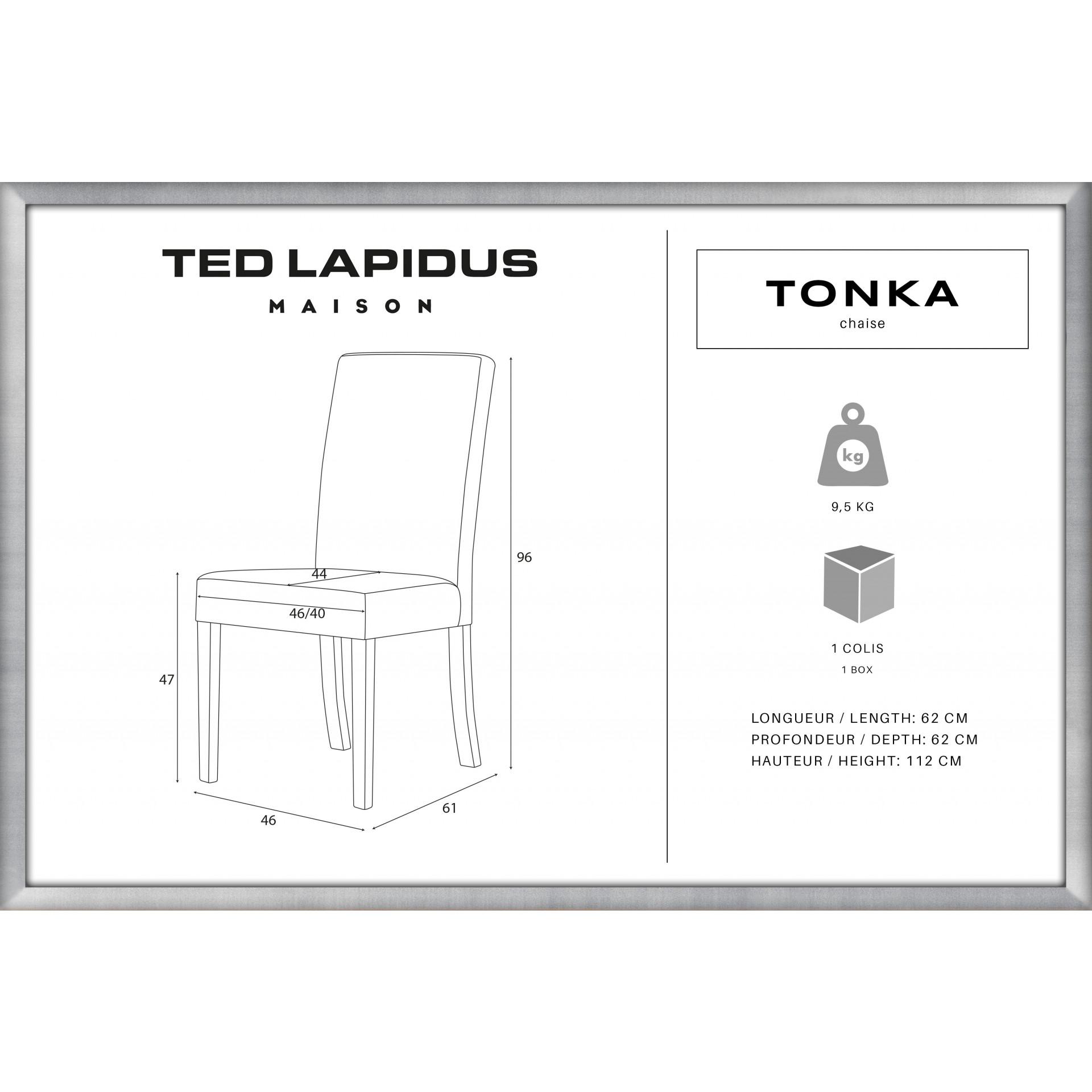 Chaise de Salle à Manger Tonka   Gris Clair