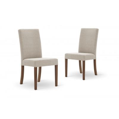 Set of 2 Dining Chairs Tonka | Cream