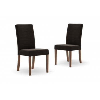 Set of 2 Dining Chairs Tonka | Brown