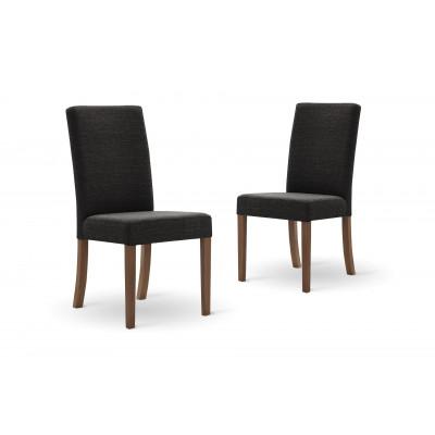 Set of 2 Dining Chairs Tonka | Dark Grey