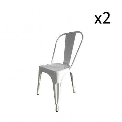 Stuhl HKM Metall 2er-Set | Grau