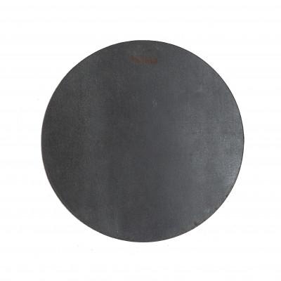 Rundes Leder-Platzset | Schwarz