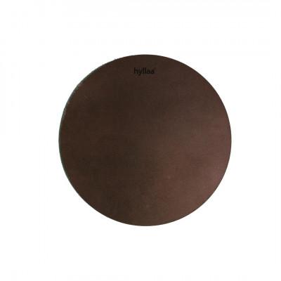 Runde Leder-Tischsets | Braun