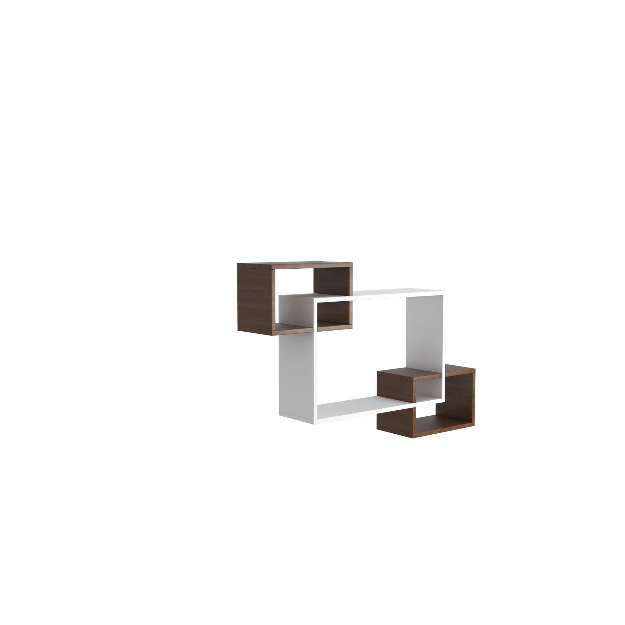 Shelf Davis | White & Wengé