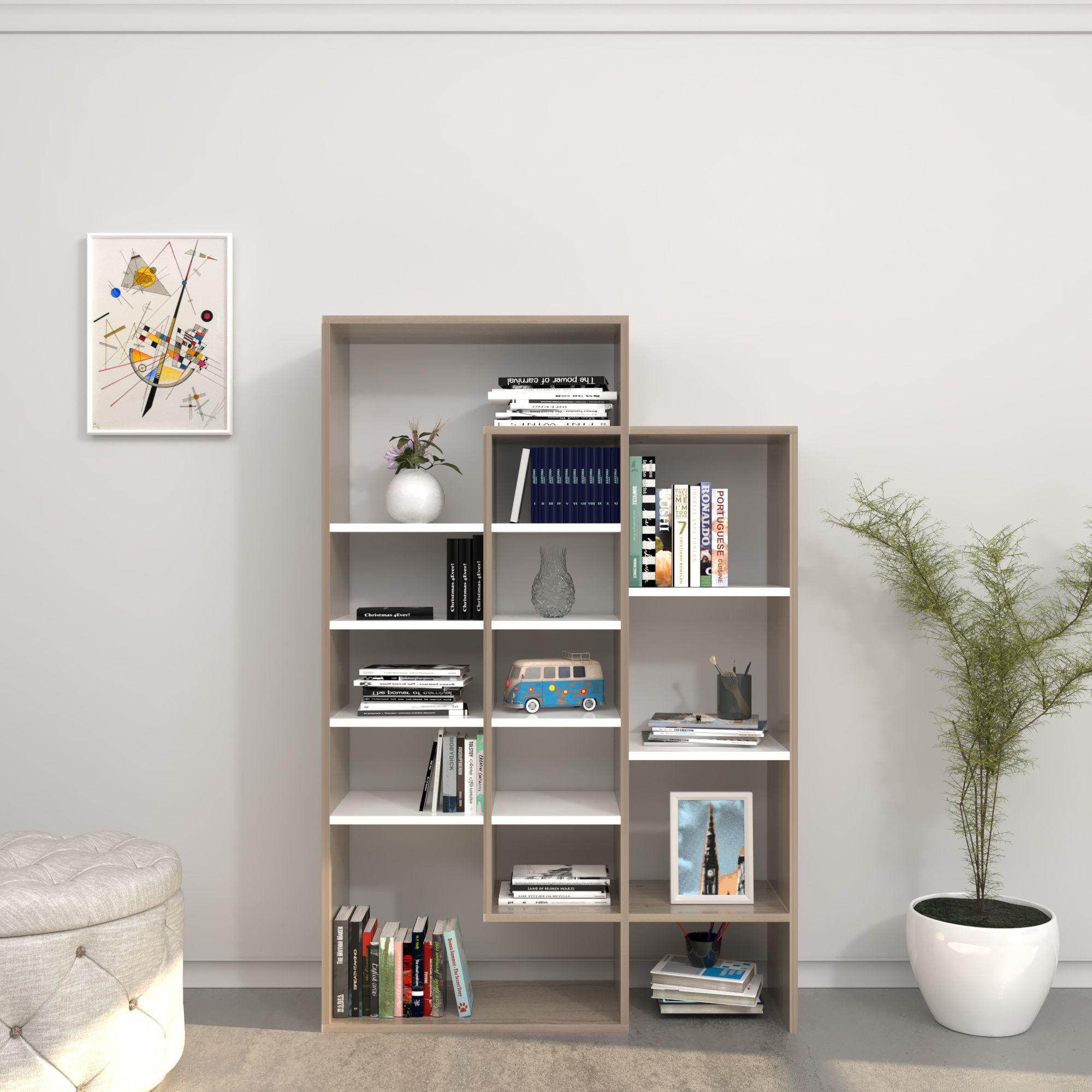 Bookcase Dalia | White & Cordoba
