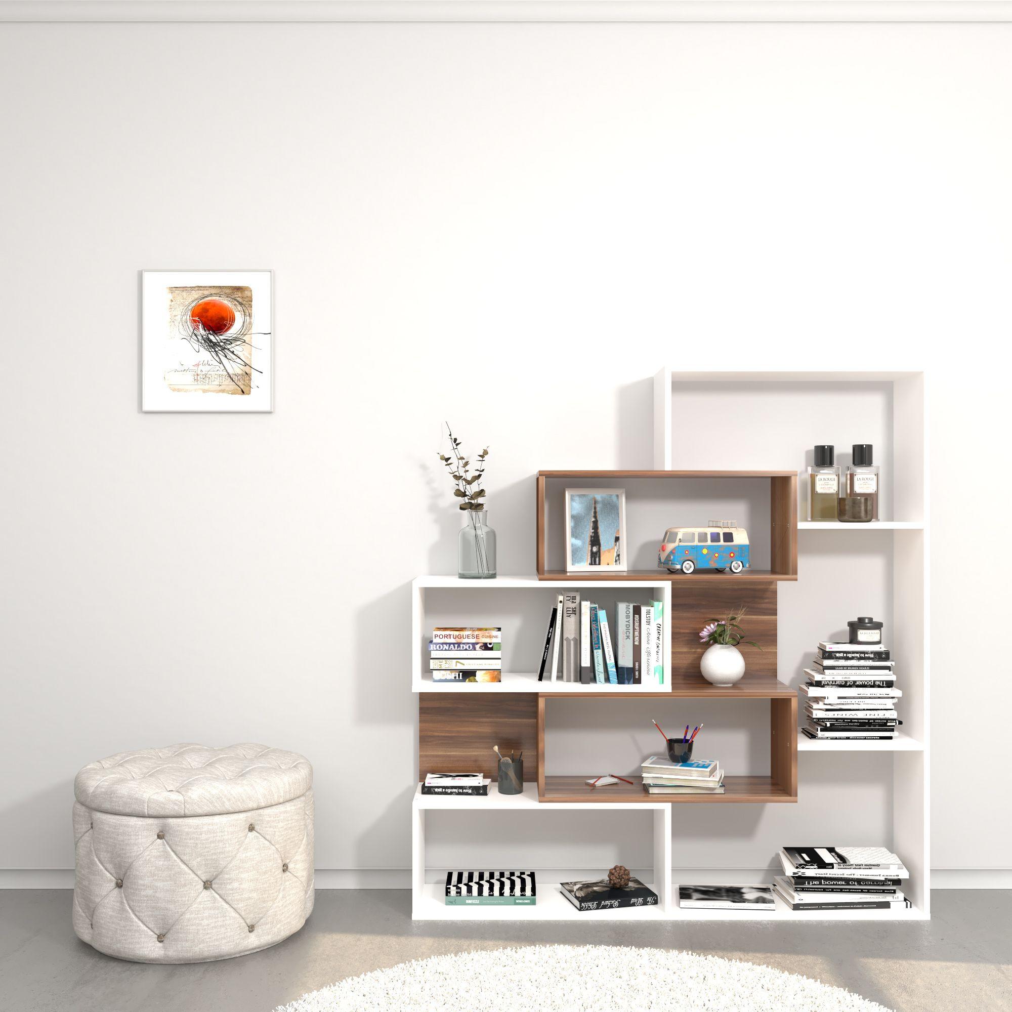 Bookcase Era | White & Wood
