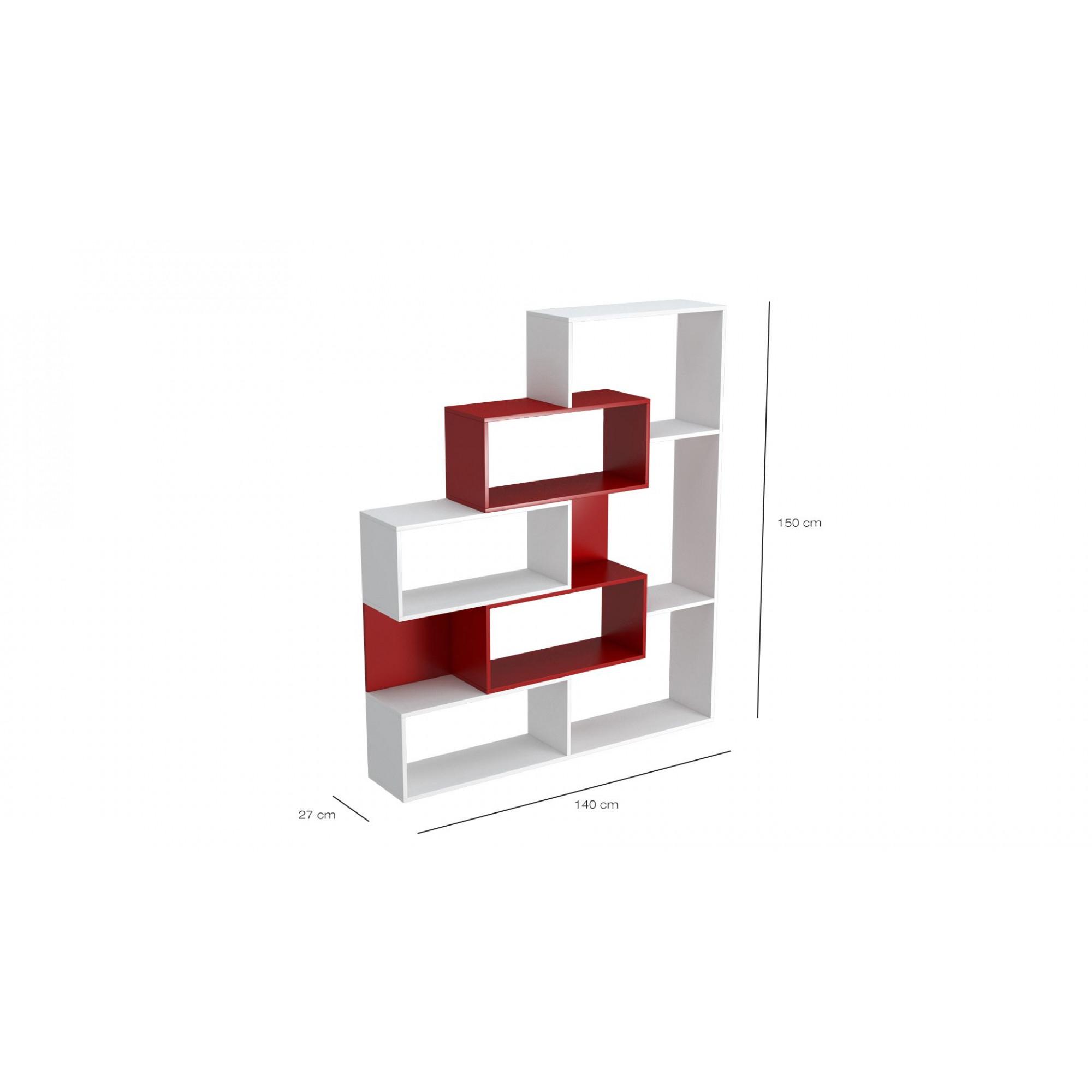 Bookcase Era | White & Red