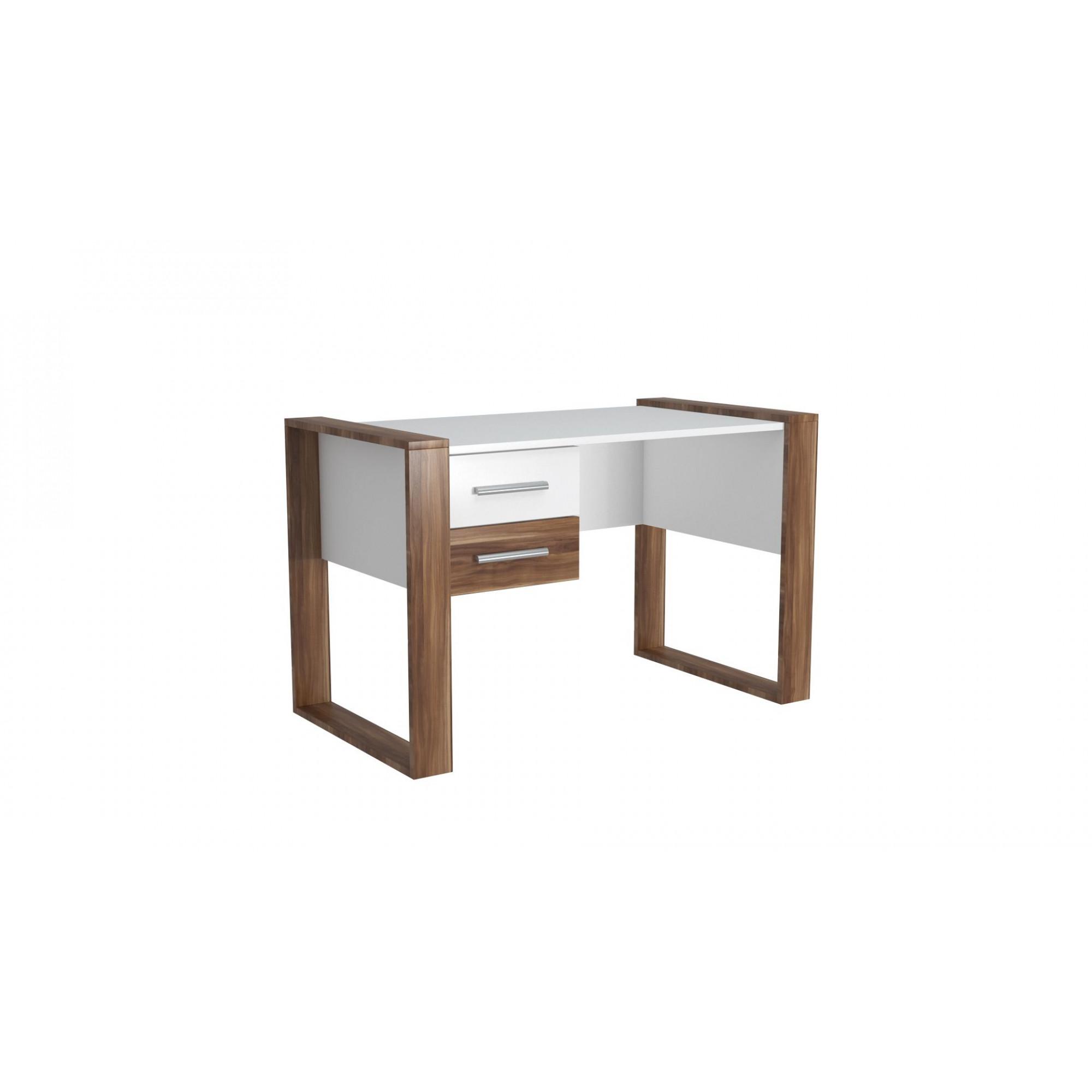 Schreibtisch Farley | Weiß & Holz