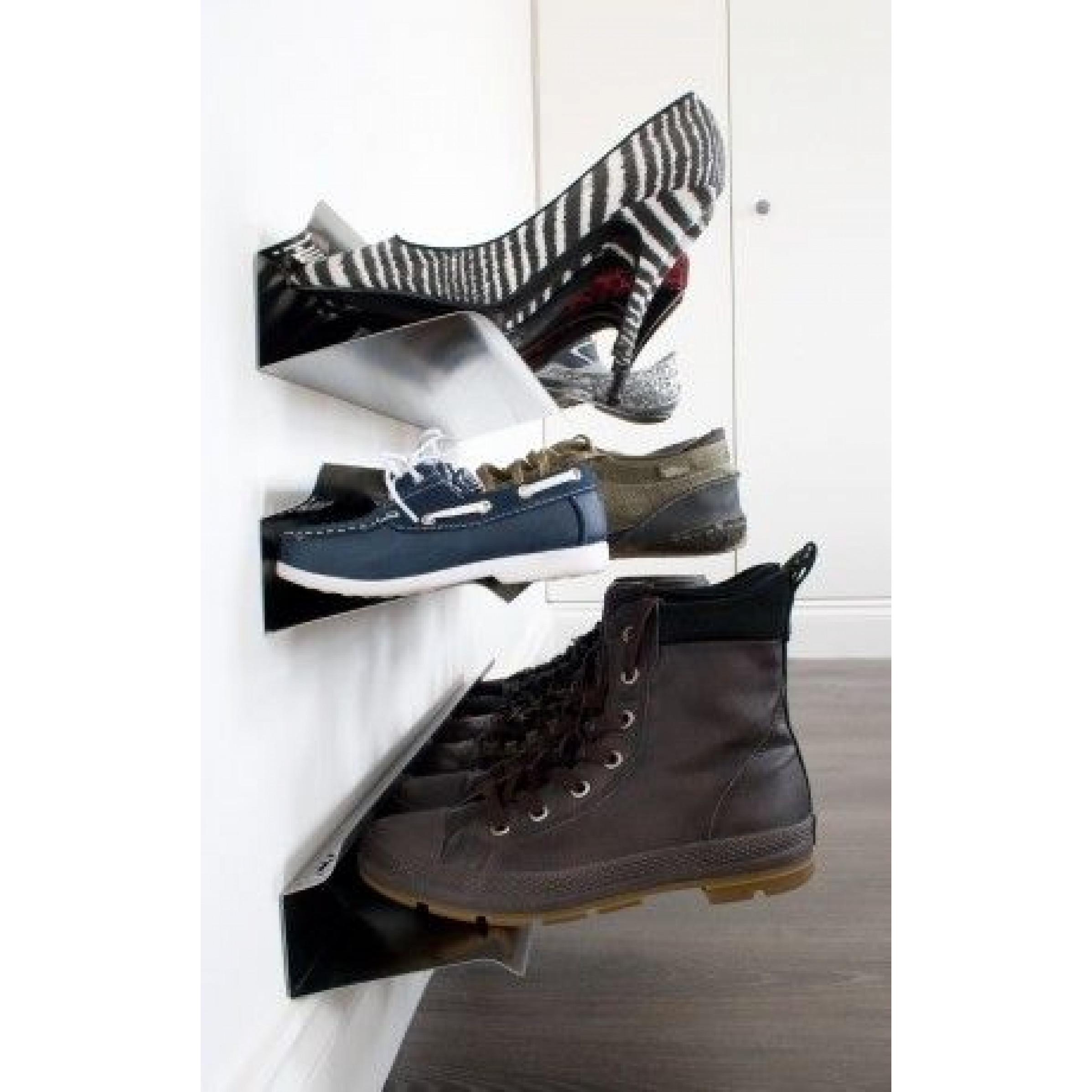 Horizontale Schuhablage | Silber