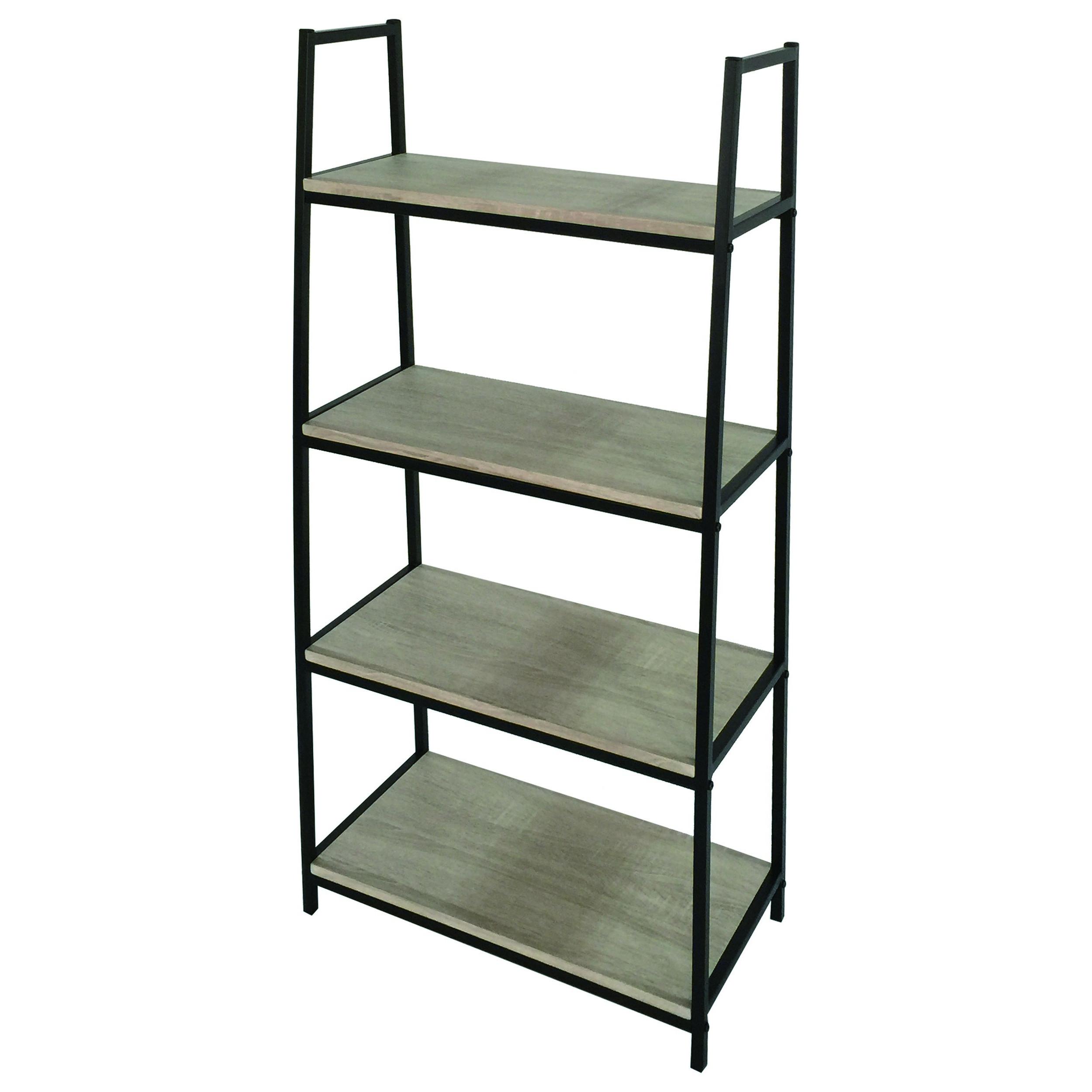 Bookcase Pictor 4 Shelves   Black, Wood
