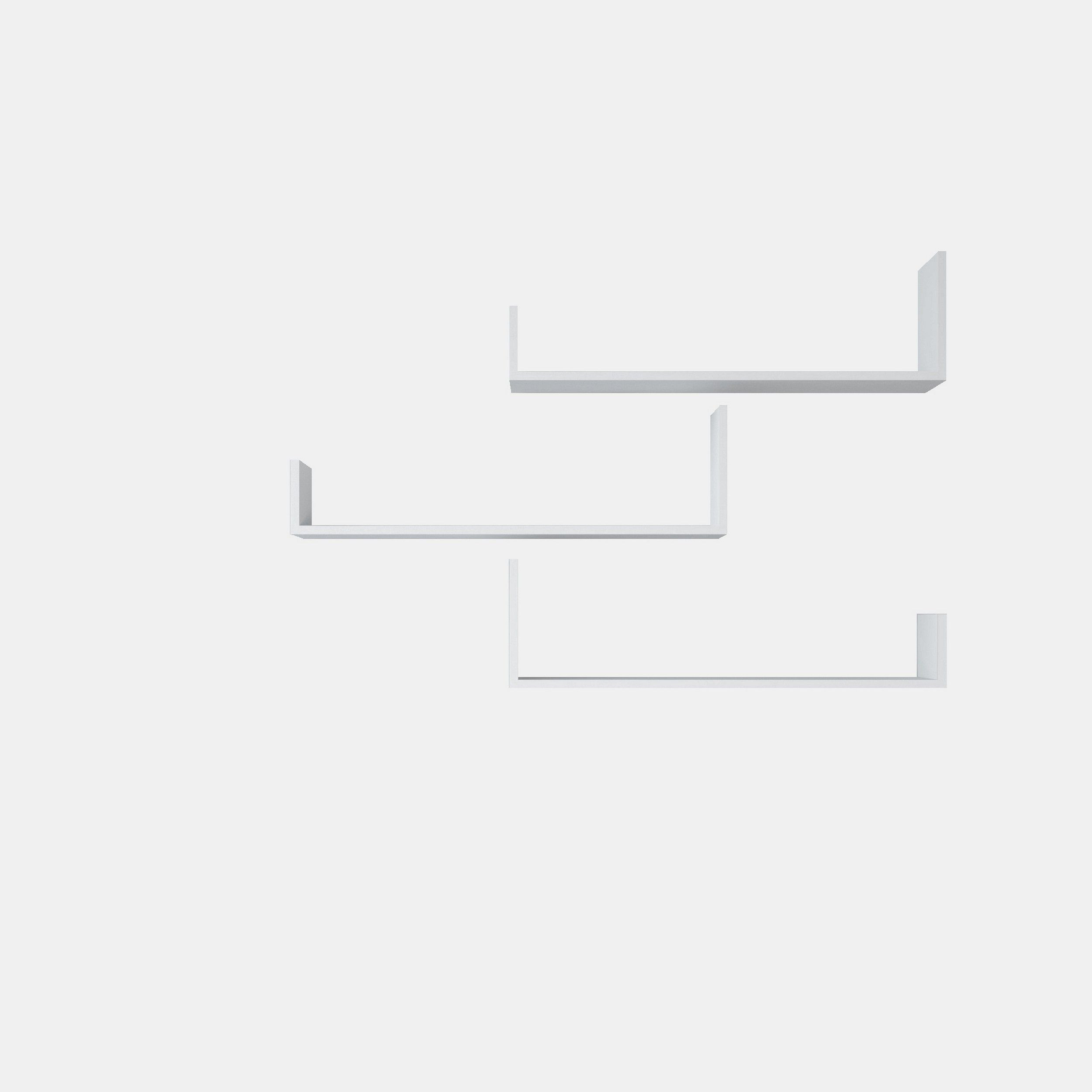 Shelf Shangai Set of 3 | White