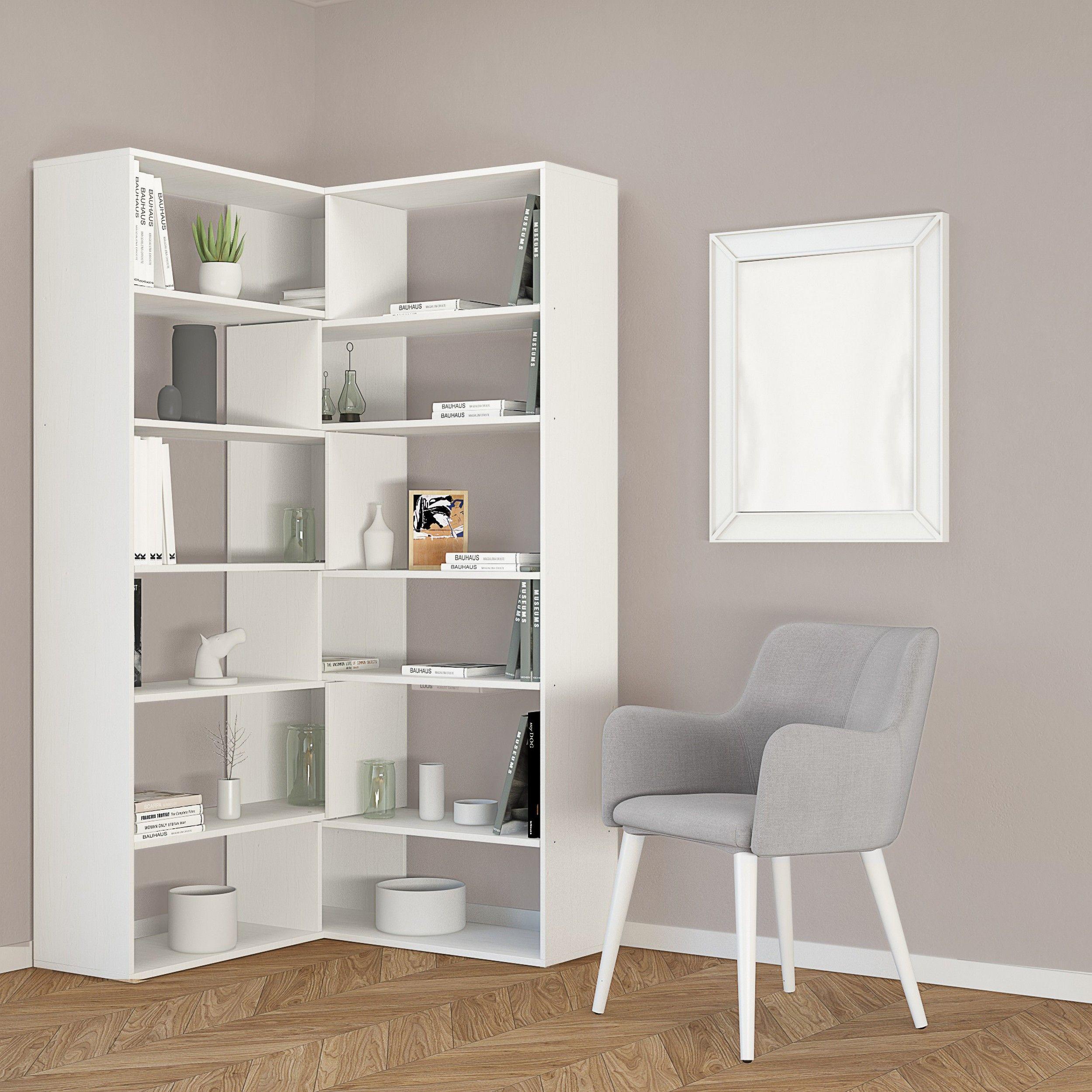 Bookcase Twin   White