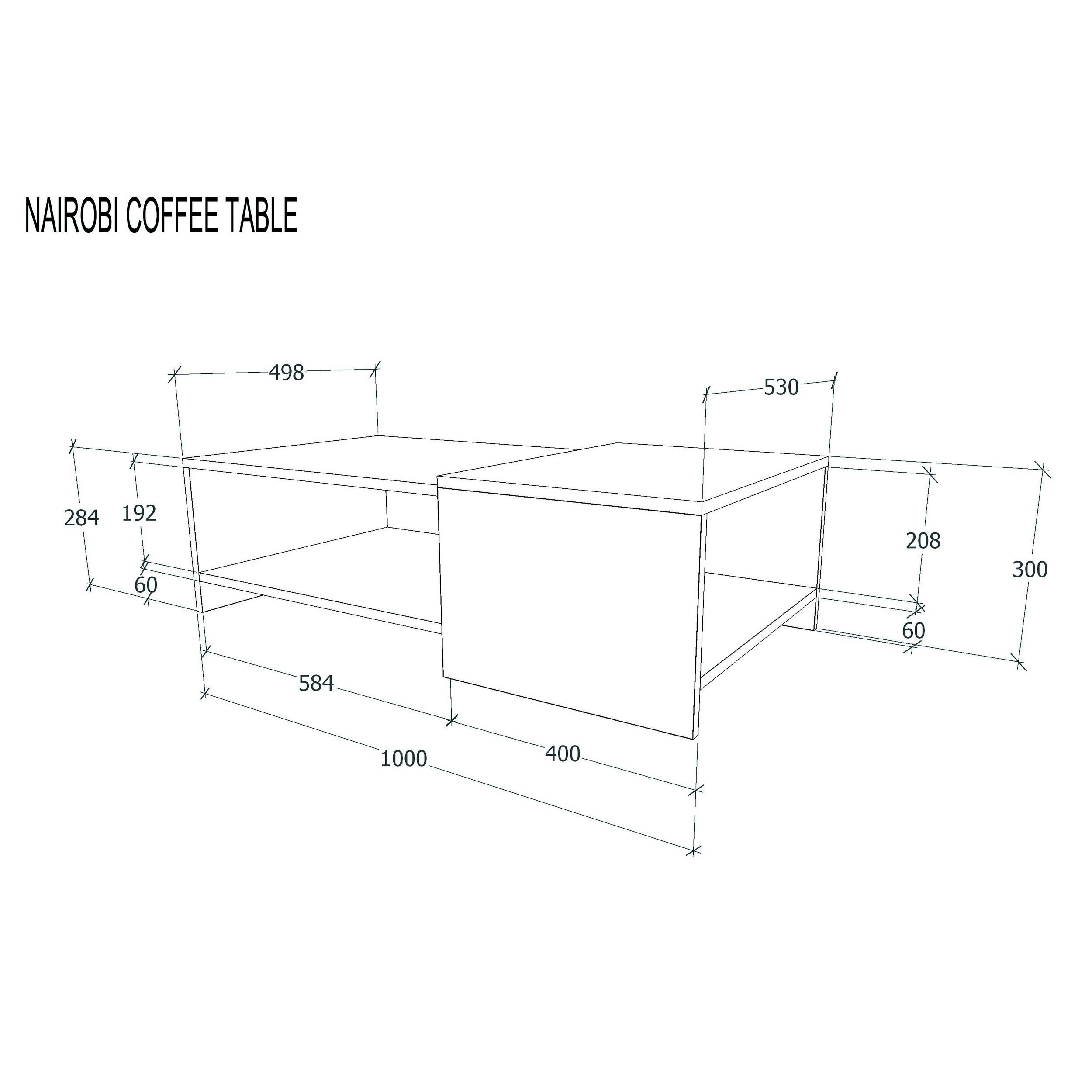 Coffee Table Nairobi | White