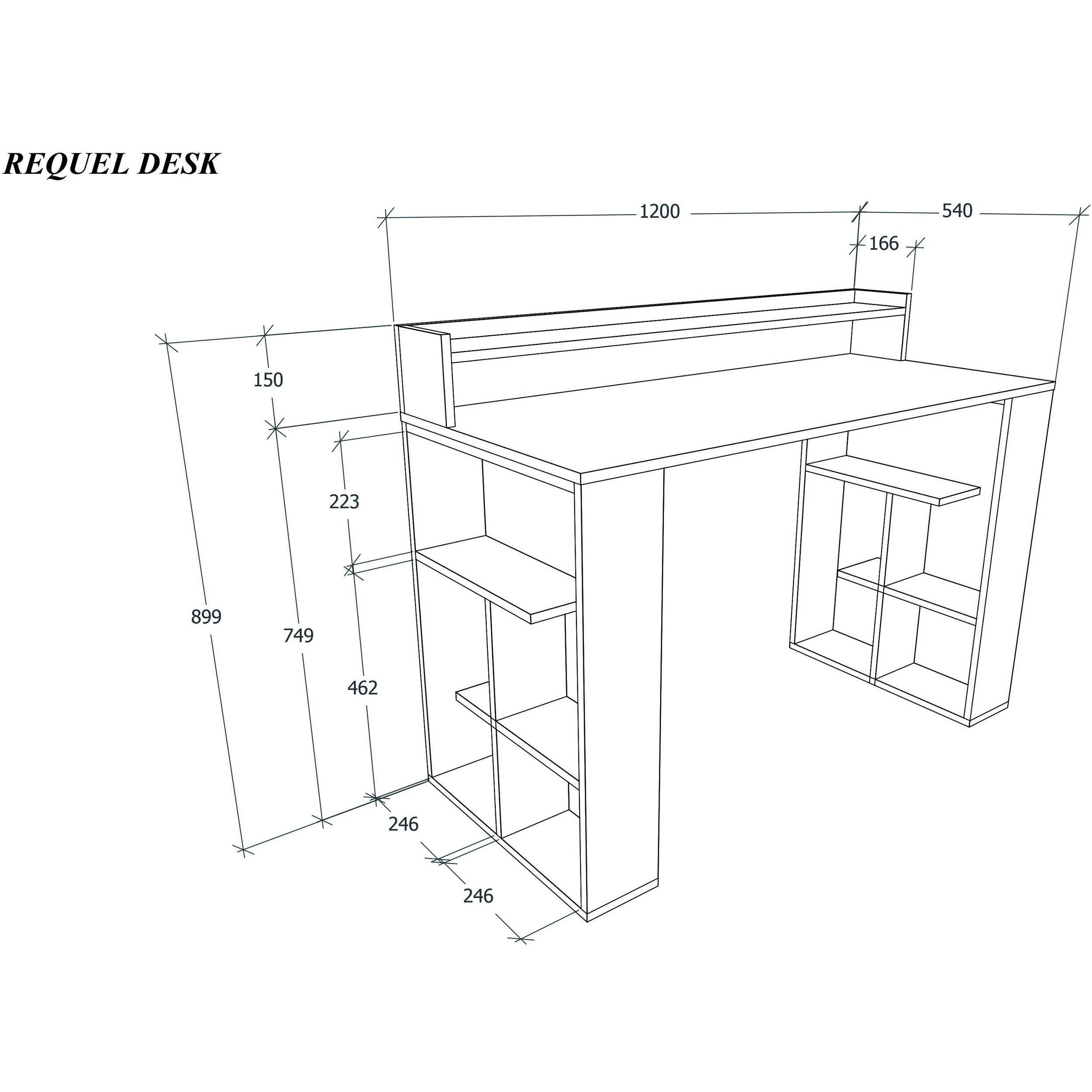 Schreibtisch-Anforderung   Weiß