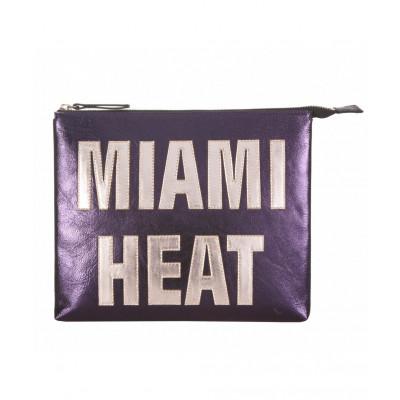 Miami Heat Leather iPad Clutch   Purple
