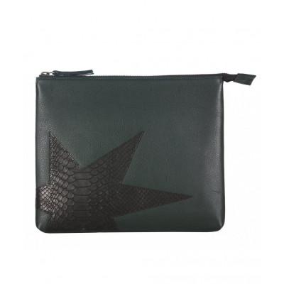 Rodriguez Leather iPad Clutch   Black Olive