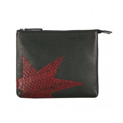Rodriguez Leather iPad Clutch   Olive Bordaux