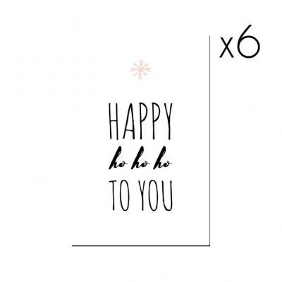 Christmas Cards | Set of 6 Happy Ho Ho Ho