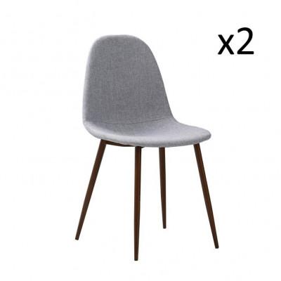 Stühle Sofie 2er-Satz | Grau