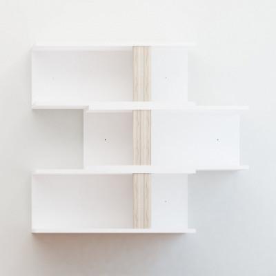 Regal Gotland | Weiß + Eiche | 3er-Satz