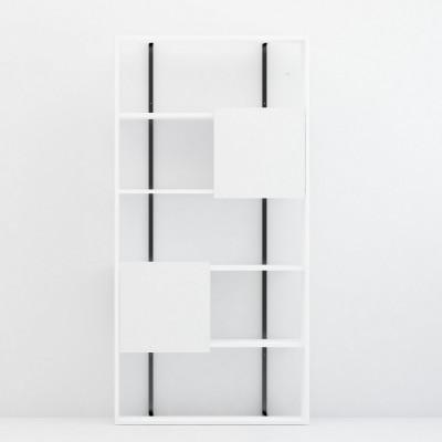 Bücherregal Rab | Weiß + Schwarz